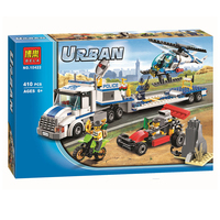 410pcs Bela 10422 Urban City Police Force Helicopter Truck Building Block Toys Compatible With Legoe City