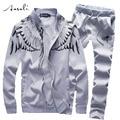 SportSuit Men 2PCS Casual Sportswear Luxury Brand Mens Tracksuit Set Sweatshirt Survetement Jogger Homme Marque Hoodies 4XL 5XL