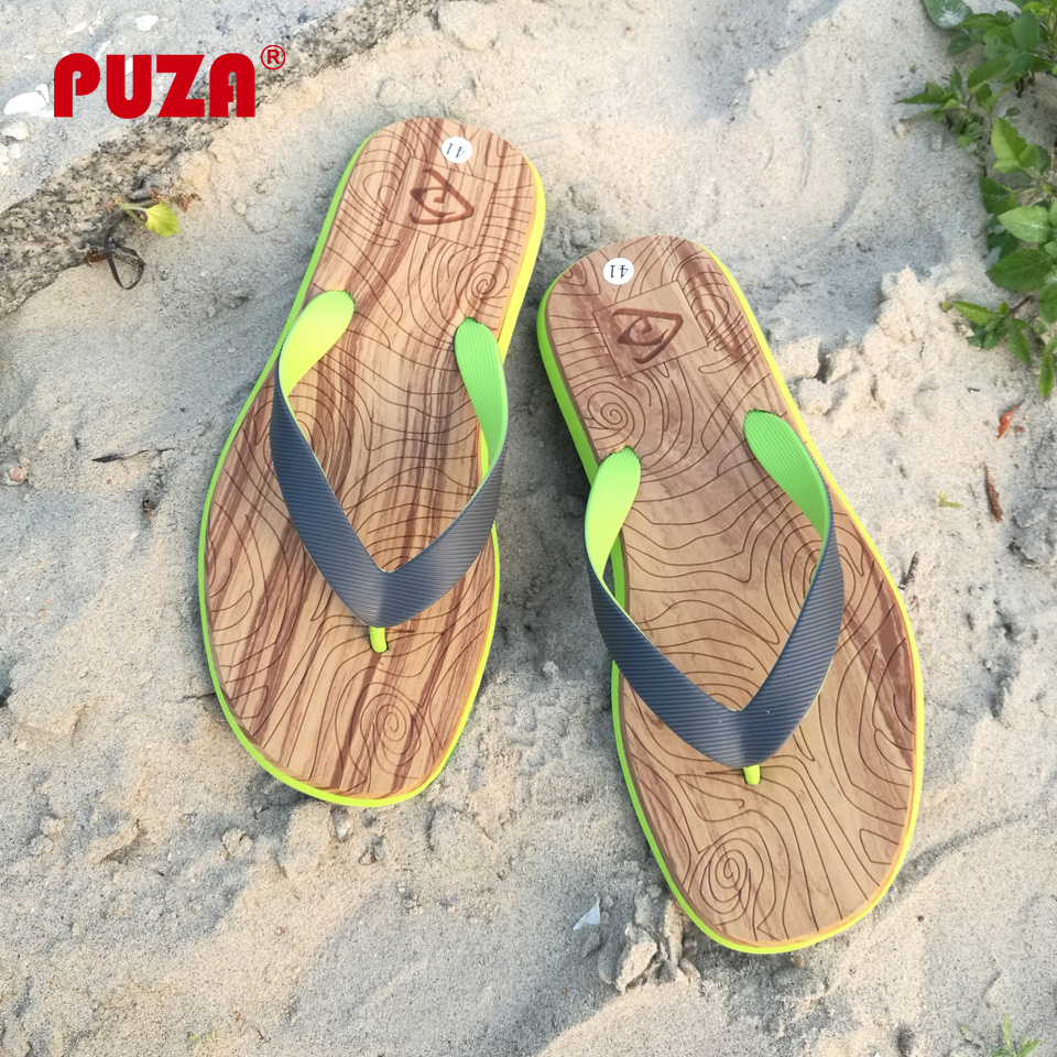 e86348fea89960 Detail Feedback Questions about PUZA New Summer Flip Flops Men Print Slip  on Massage Slippers Flat Beach Sandals Mens Non slip Home Flip Flop Man  Slides on ...