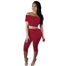 Women sexy off shoulder rompers two piece lady's fashion bodycon backless night club jumpsuits lady's slim bodysuit 3 colors