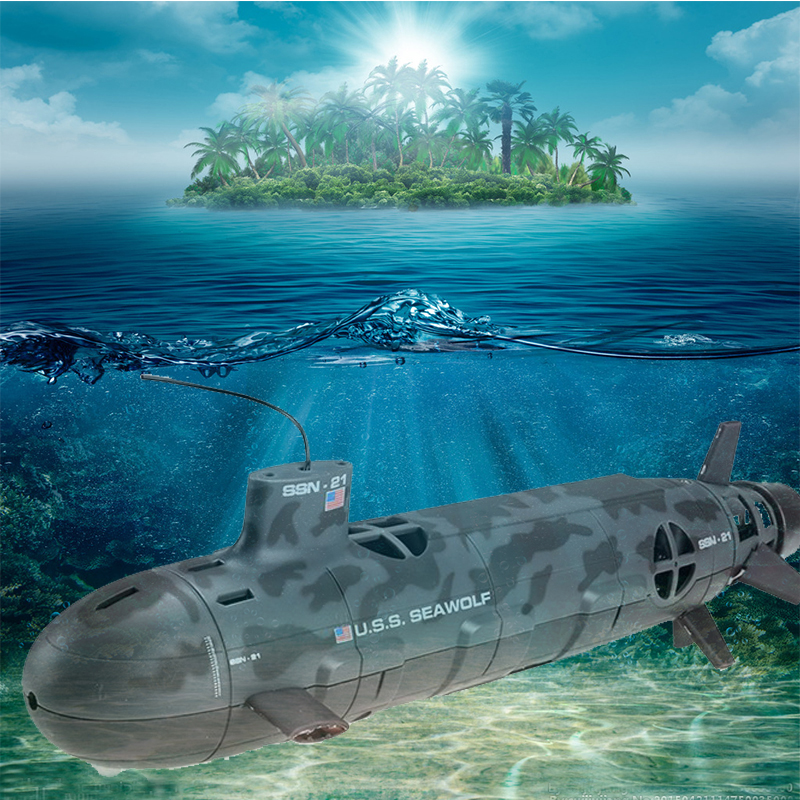 13000 U.S.S Seawolf 6-Channel Remote Control Large Submarine Model Nuclear Energy Navy Rc Motorboat Diving Electric Toy