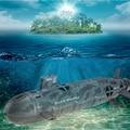 13000 USS Seawolf 6-Channel RC Modelo Submarino Nuclear de Energia Marinha Controle Remoto Lancha de Brinquedo Elétrico