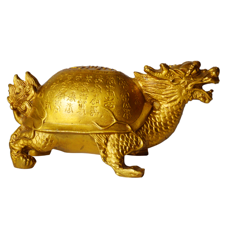 SHUN brass select size Baishou turtle Dragon turtle copper Decoration Fushou Health Gift Old people Best