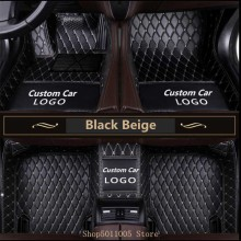 Custom Logo Car Floor Mats For Mazda 3 Bk Bl 2010 2007 2008 Cx-7 6 Gj 2014 2006 2009 Cx-5 Cx9 Cx3 Car Accessories Carpet Rugs