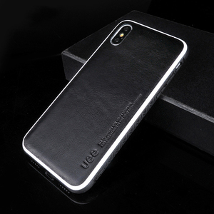 Image 2 - Echtes Leder für iphone 7 fall fashion Business telefon fall für iPhone 8plus X XS einfarbig Schock widerstand schutzhülle