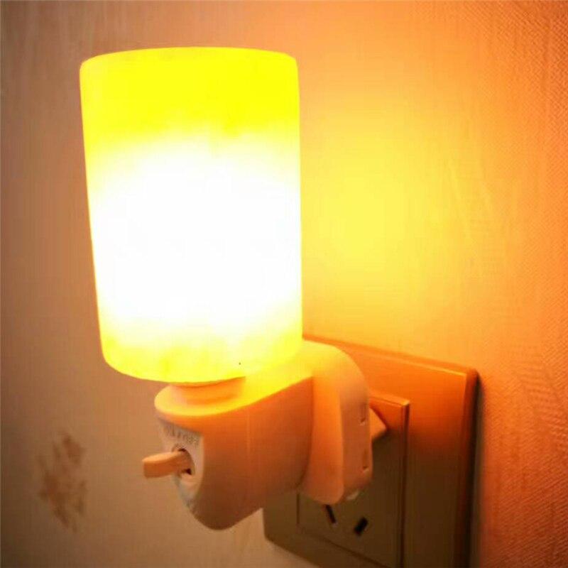 Cylinder Shaped Rorate Himalayan Salt Lamp Air Purifier Crystal Salt Rock Bedside lamp Night Light Aisle Bedroom