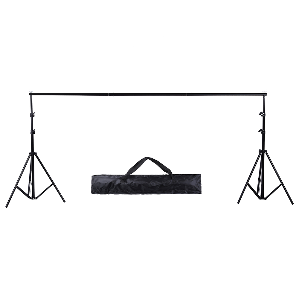 Background Stand Support System Photography Studio Adjustable Backdrops Frame with Carry Bag for Muslins Backdrops,Paper,Canvas
