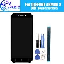 5.5 بوصة ULEFONE درع X شاشة الكريستال السائل + شاشة تعمل باللمس 100% الأصلي اختبار LCD محول الأرقام زجاج لوحة استبدال ل ULEFONE درع X