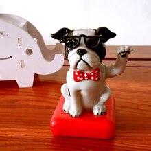 1 шт. Домашний питомец собака Скажите Привет не Электрический качающаяся голова солнечной энергии игрушки для детей автомобиль Настольный Декор милый День рождения рождественские подарки