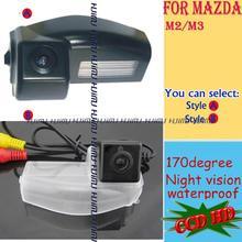 Провода беспроводной sony CCD HD автомобильная камера заднего вида камера заднего вида для Mazda 2/Mazda 3 Mazda 5 М2 М3 парковка помощь