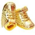 2016 primavera niños casual shoes baby shoes girls 11-13 cm casual impermeable shoes oro y color blanco para 0-1 años de edad bebé