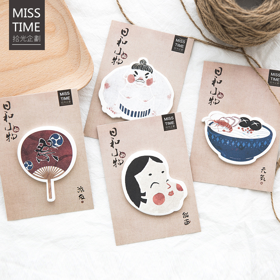 30Pcs/Pack Japanese Small Things Post It N Times Irregular Memo Pad Notebook Student Sticky School Label Gift M0164