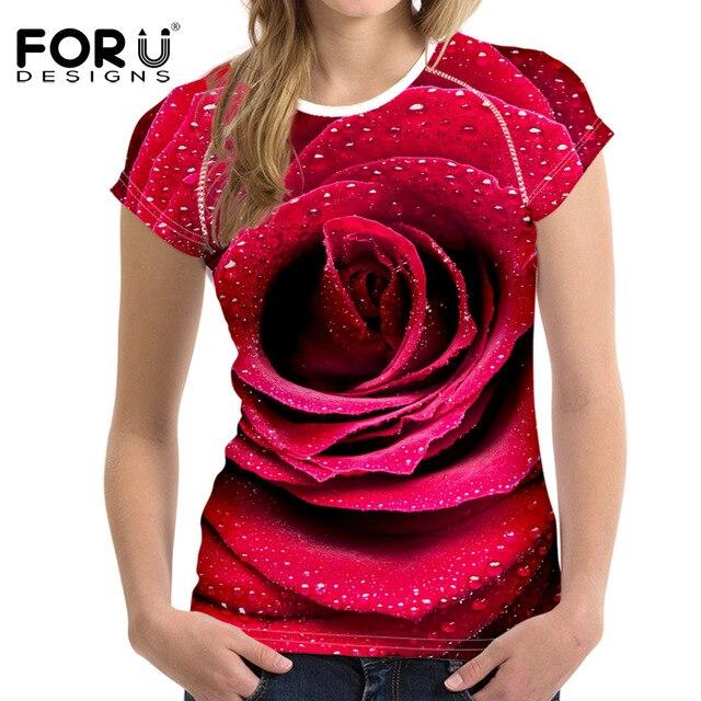 3d flower shirt
