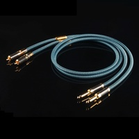 Single crystal copper RCA lotus turn 6.35 mixer audio cable