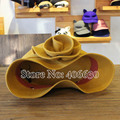 Elegant Floral Yellow Wool Bucket Hats Women Felt Cloche Hats Chapeu Feminino Free Shipping PWFE-003
