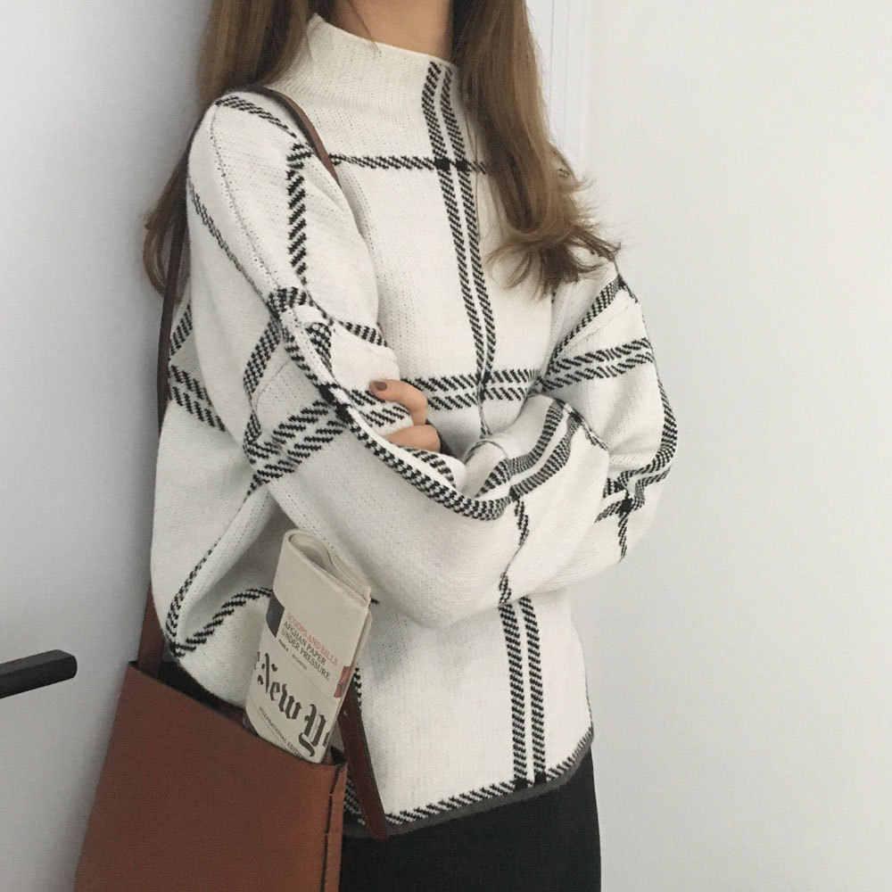 2019 новые женские шикарные свитера с графическим рисунком, трикотажные пуловеры с рукавами-«фонариками», повседневные хлопковые свитера, женские топы