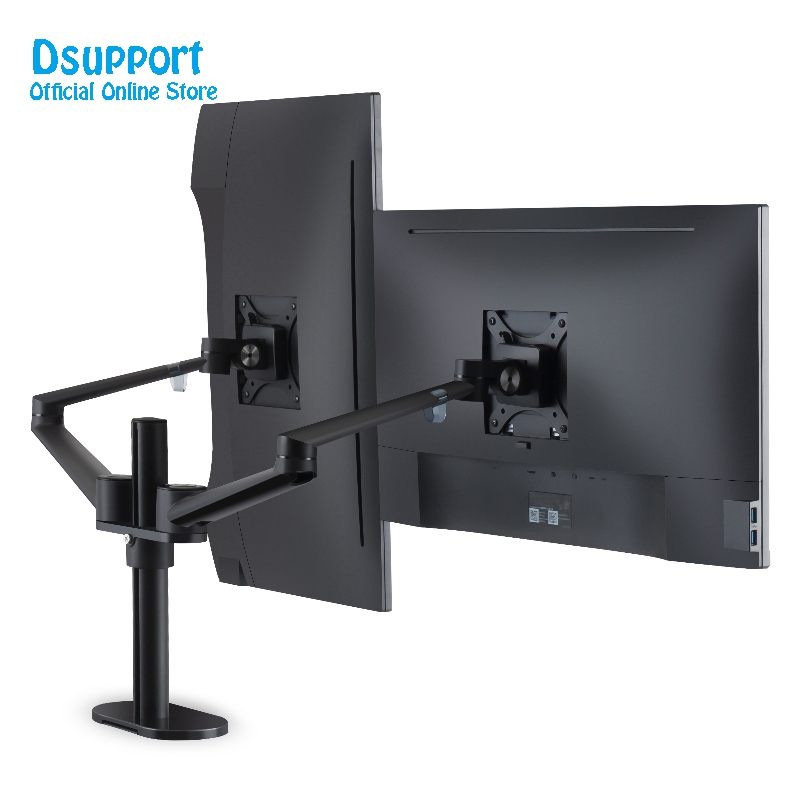 Aluminum Alloy LCD LED dual Monitor Holder Arm Bracket 360 Degree Rotatable Computer Monitor holder Stand OL-2