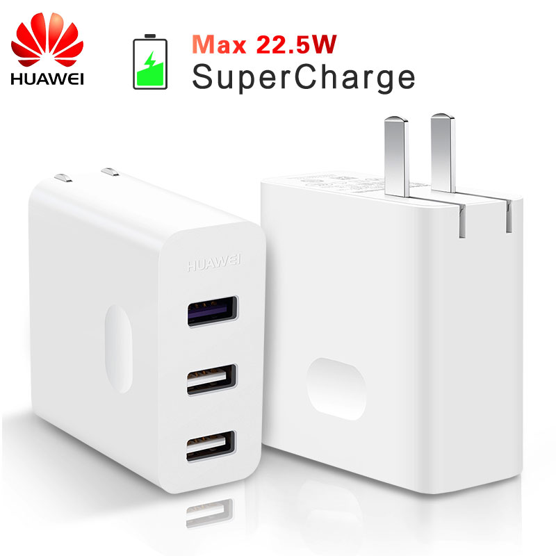 HUAWEI Super Charger Original Travel Quick Fast Charge QC 3.0 5A 3 USB Type C Cable HUAWEI P10 Plus P20 MATE 9 10 20 Pro Adapter