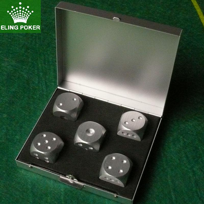 New Texas Holdem Dice Metal Alloy Dice Gift Set Holdem Accessories 5pcs/set Portable Boyfriend Gift Dungeons and Dragons ...