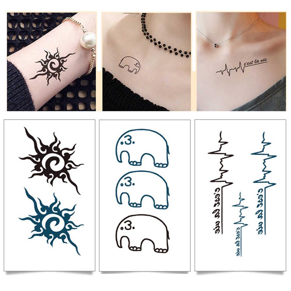 กันน้ำชั่วคราว Tattoo สติกเกอร์ body Love wave tattoo ขนาดเล็ก tattoo สติกเกอร์แฟลช tattoo รอยสักปลอมสำหรับสาวผู้หญิง