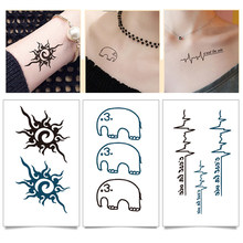 Waterproof Temporary Tattoo Sticker of body Love wave tattoo small size tatto stickers flash tatoo fake tattoos for girl women(China)