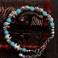 2015 Latest 1pc Lovely Elephant Shape Alluring Lady Woman Turquoise Bracelet