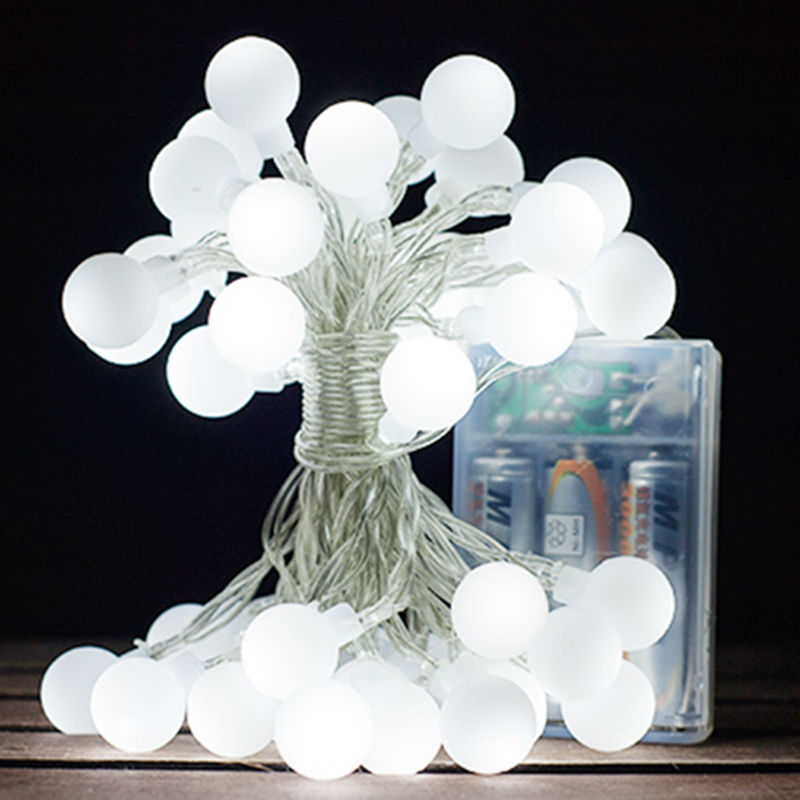Globe String Lights Battery Operated Leds : 4m Christmas Lights Outdoor Indoor Battery Operated Fairy Lights Ball Plastic Garden Tree ...