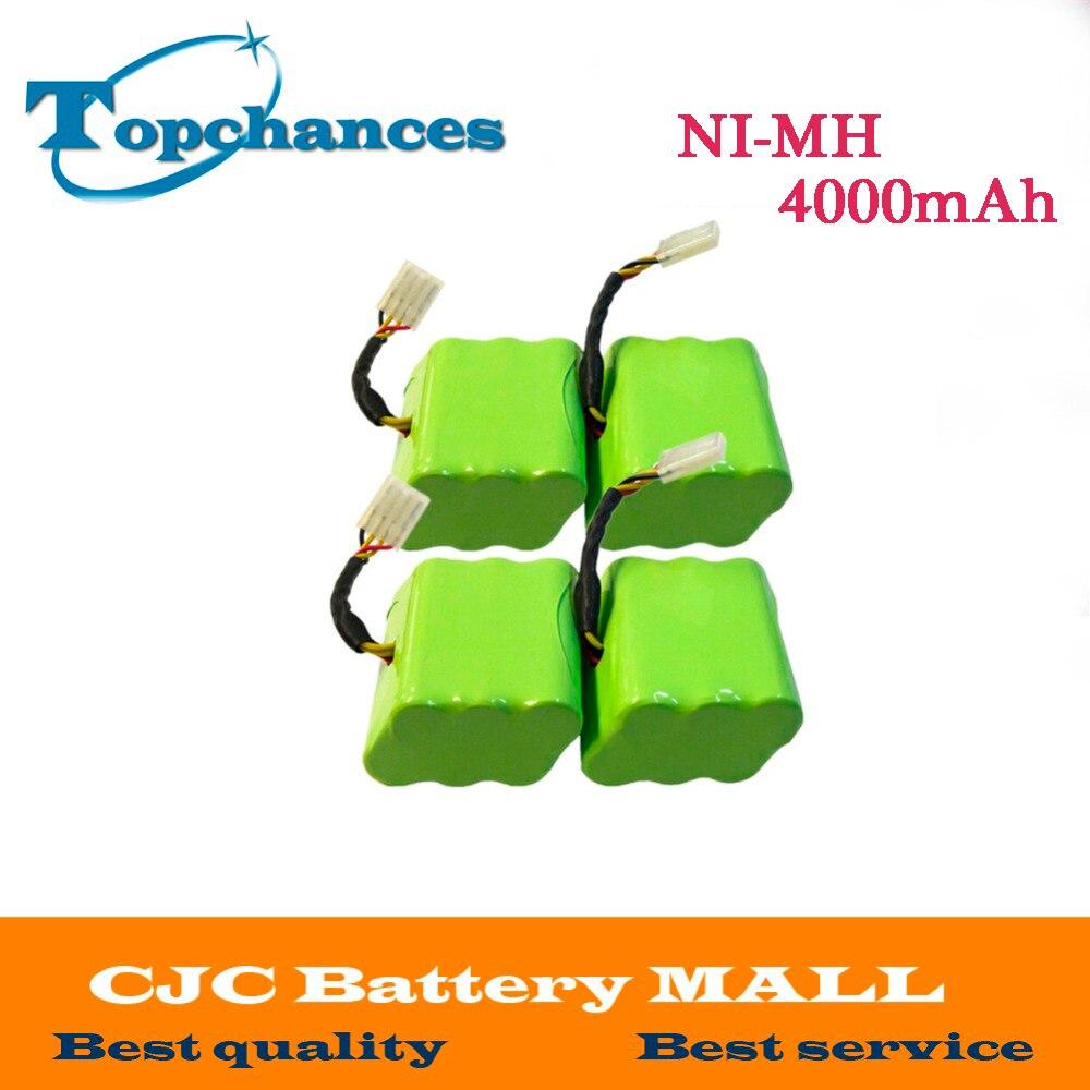 4 pièces 7.2 V NI-MH 4000 mAh Batterie Pour Neato XV-11 XV-12 XV-15 XV-21 Signature Pro Robotique Livraison Gratuite