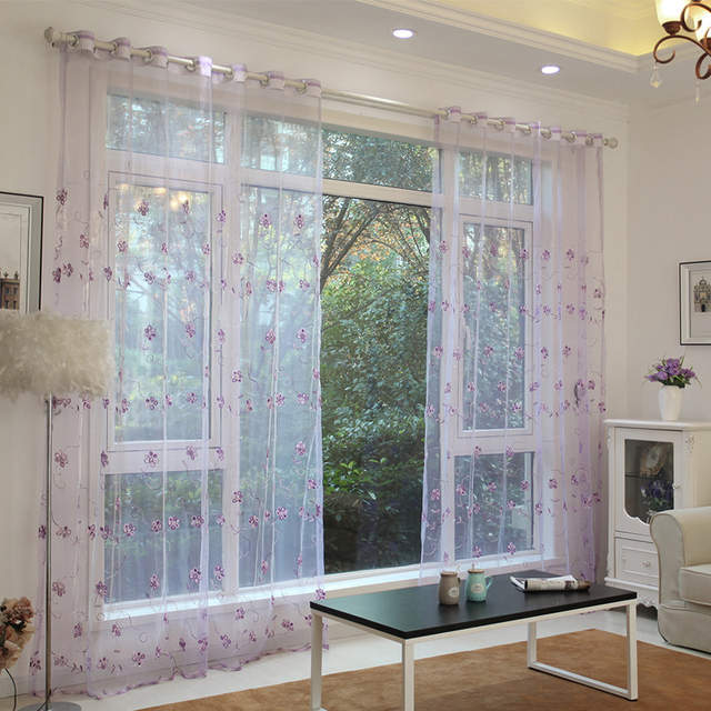 US $16.08 33% OFF|Simple Modern Princess Room Children Room Embroidery  Sequin Screens, Tulles for Living Dining Room Bedroom-in Curtains from Home  & ...