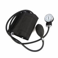 Aneroid Blood Pressure Monitor Sphygmomano Meter With Stethoscope Nylon Cuff Dial Free Shipping