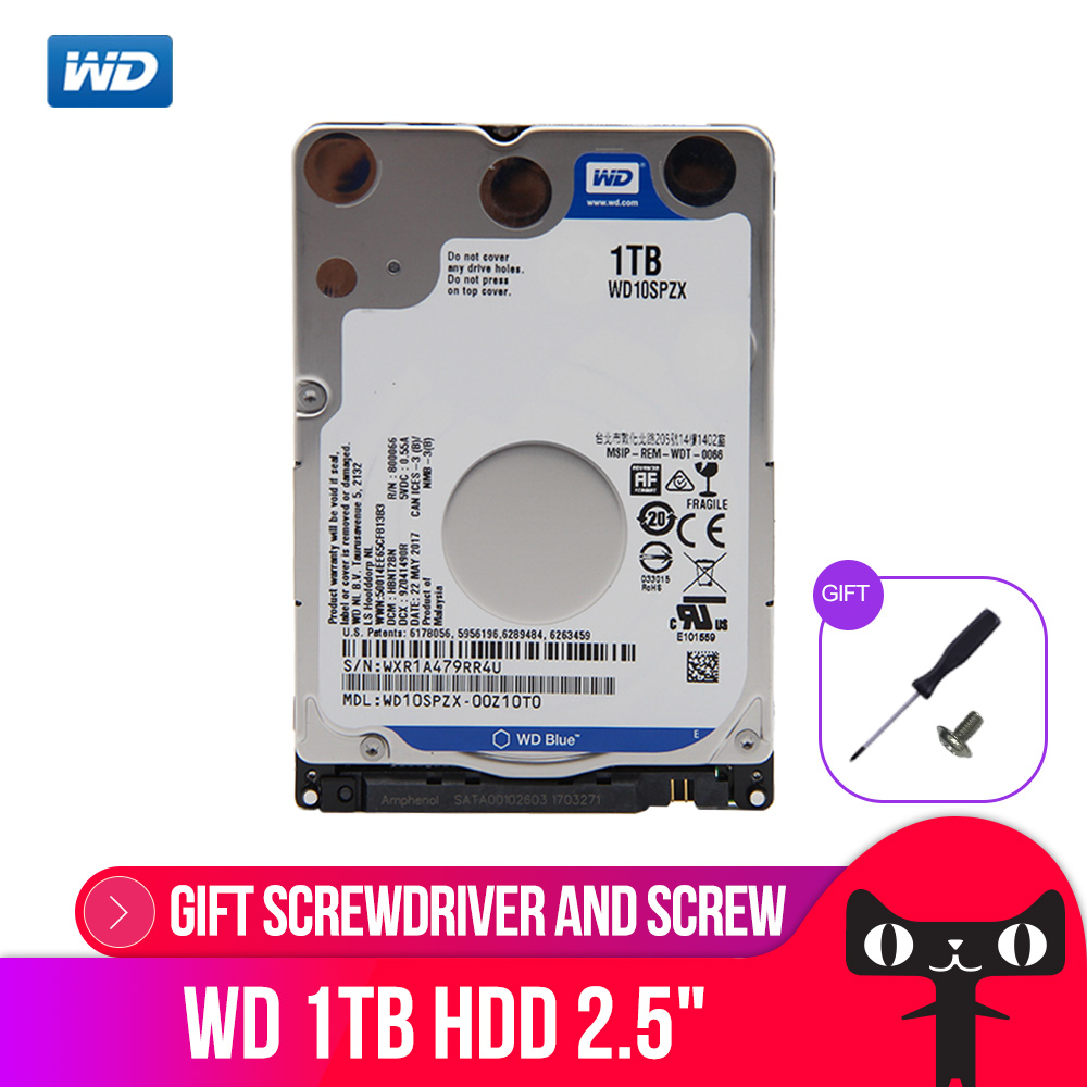Western Digital WD Blue 1 to disque dur Mobile 5400 tr/min SATA 6 Gb/s 128 mo Cache 2.5 pouces pour ordinateur portable WD10SPZXWestern Digital WD Blue 1 to disque dur Mobile 5400 tr/min SATA 6 Gb/s 128 mo Cache 2.5 pouces pour ordinateur portable WD10SPZX