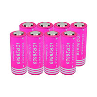 6/8/10 Pcs New 69.3x26.1mm ICR 26650 Lithium Li Ion Battery Rechargeable For Headlamp Remote Control Microphone Power Bank