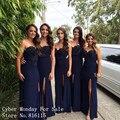 Урожай синий оболочка длинное платье невесты заказ сексуальная кружевные аппликации свадебное ну вечеринку платья с высокой щели