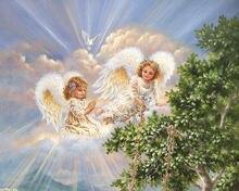 5d алмазная вышивка religion girl крест с ангелами стежок Кристалл