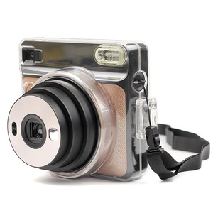 Image 5 - Besegad Transparent Plastic Protective Case Cover with Adjustable Shoulder Strap for Fujifilm Instax Square SQ6 SQ 6 Camera