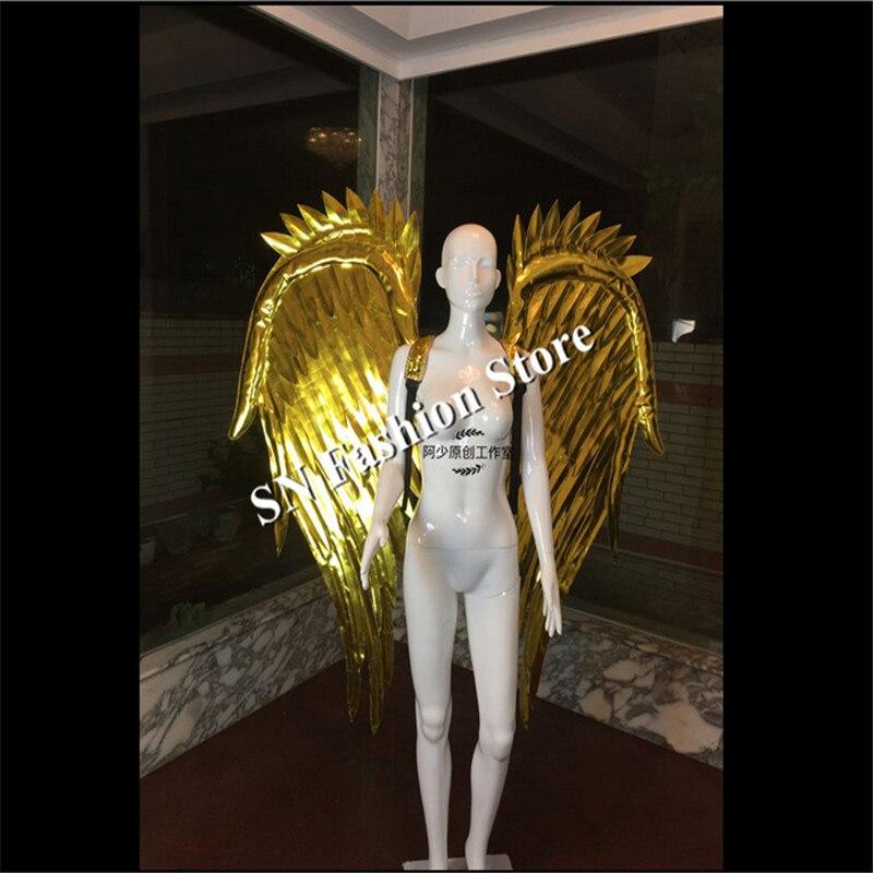 AS70 Gold oglindă dj cântăreț îmbrăcăminte sutien sala de bal - Produse pentru sărbători și petreceri