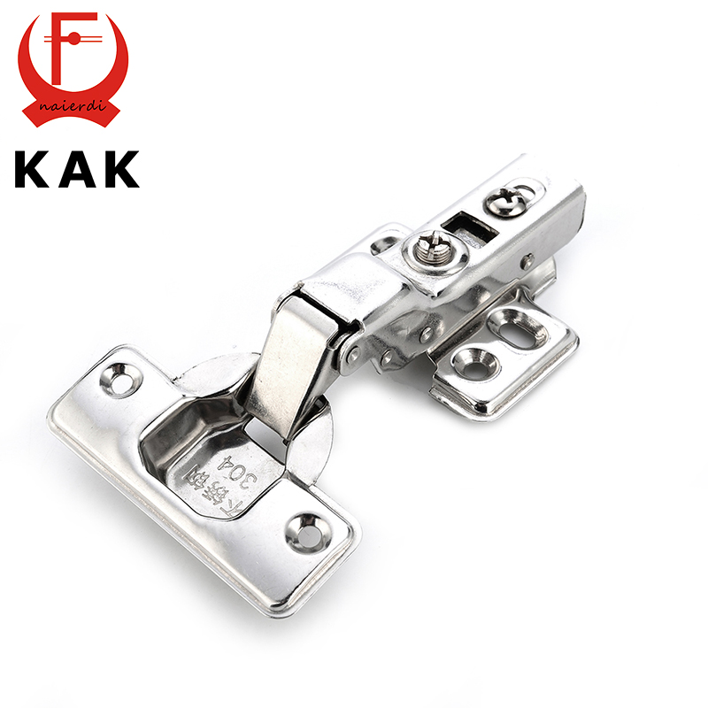 KAK C Series Hinge Stainless Steel Door Hydraulic Hinges Damper Buffer Soft Close For Cabinet Cupboard Furniture Hardware 2pcs 90 degree concealed hinges cabinet cupboard furniture hinges bridge shaped door hinge with screws diy hardware tools mayitr