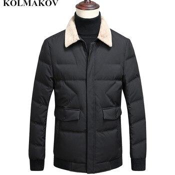 KOLMAKOV New Arrival Winter Outwear Men 2018 Mens Short Duck Down Coat Men's Thicken Jackets Duck Down Casual Overcoats M-XXXL