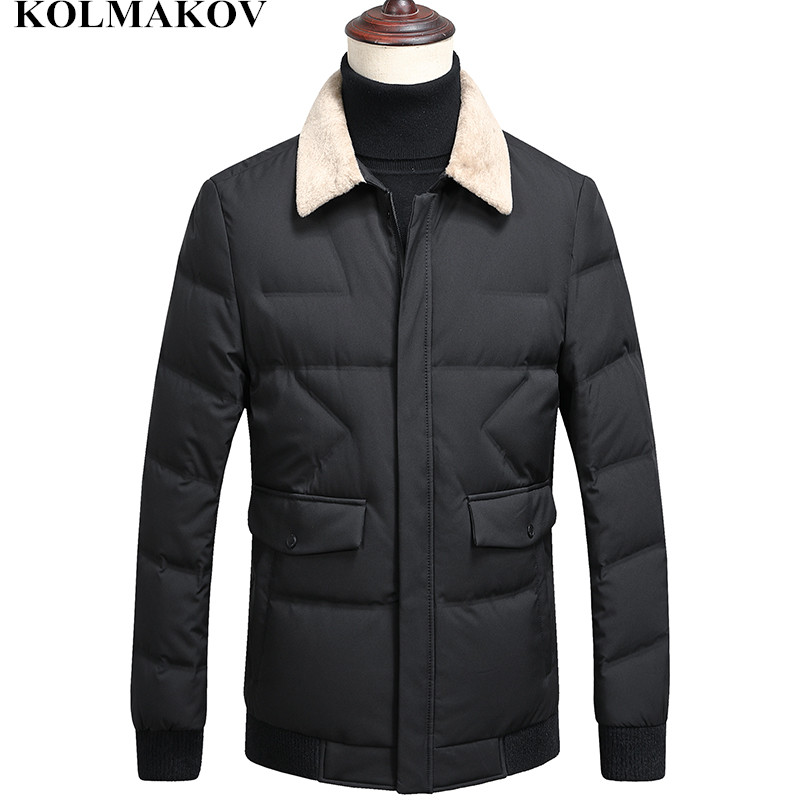 KOLMAKOV New Arrival Winter Outwear Men 2018 Mens Short Duck   Down     Coat   Men's Thicken Jackets Duck   Down   Casual Overcoats M-XXXL