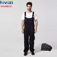 Ropa de trabajo de los hombres pantalones de trabajo general ropa de seguridad femenina Multi-funcional trabajo protección general durable cargo rodilleras B136