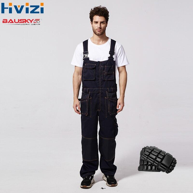 Vestuário de trabalho masculino calças de trabalho geral roupas de segurança feminino multi-funcional proteção do trabalho em geral durável carga joelheiras b136