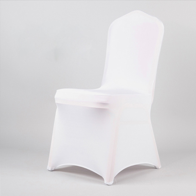 Aliexpress buy free shipping 50pcs white spandexlycra chair free shipping 50pcs white spandexlycra chair cover wedding decoration for wedding party hotel to junglespirit Images