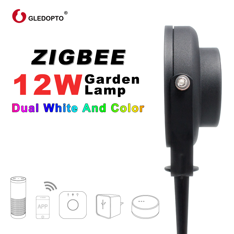 Image 3 - GLEDOPTO ZIGBEE light link LED garden lamp outdoor light 12W RGB CCT warm white AC110 240V work with Amazon alexa echo ZIGBEE3.0-in LED Lawn Lamps from Lights & Lighting