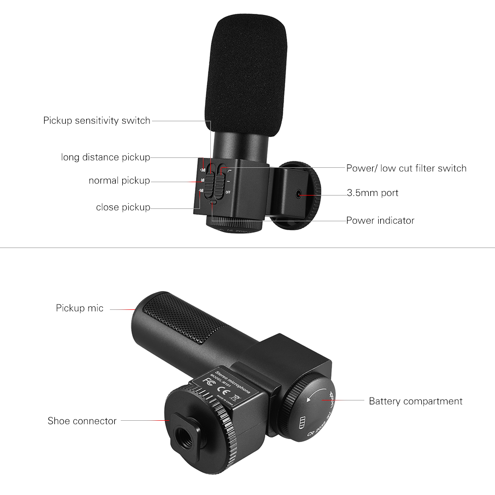 Electret Condenser Microphone Long Range Modern Design Of Wiring Small Preamplifier Circuit Diagrams M101 Stereo Back Video Rh Aliexpress Com Dynamic