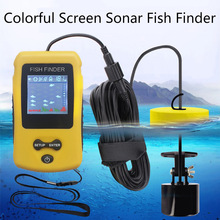 Russian Manual! FFC1108-1 Hot Sale Alarm 100M Portable Sonar LCD Fish Finders Fishing lure Echo Sounder Finder