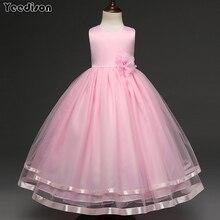 Платья с цветочным узором для девочек, коллекция 2018 года, детская вечерняя одежда принцессы, торжественное детское платье для девочек, свадебные платья для выпускного вечера, 12 лет