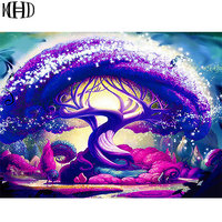 MHD 5D DIY Diamond Embroidery Bizarre 3D Tree Color Resin Diamond Painting Cross Stitch Mosaics Sewing