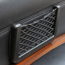 New 20*8cm Car Seat Side Back Storage Net Bag Phone Holder Pocket Car Organizer Stowing Tidying(China)