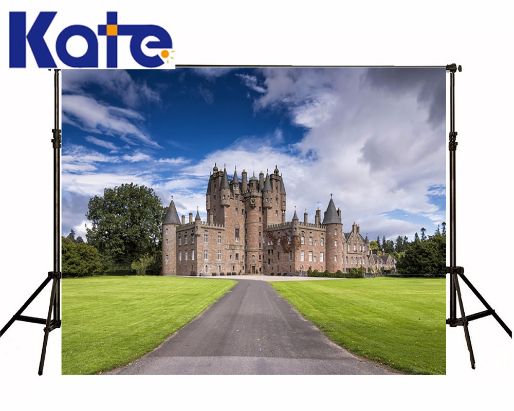 KATE Photo Background 8x8ft Photocall Wedding Castle Photography Backdrop Blue and White Wedding Backdrop for Photography Studio