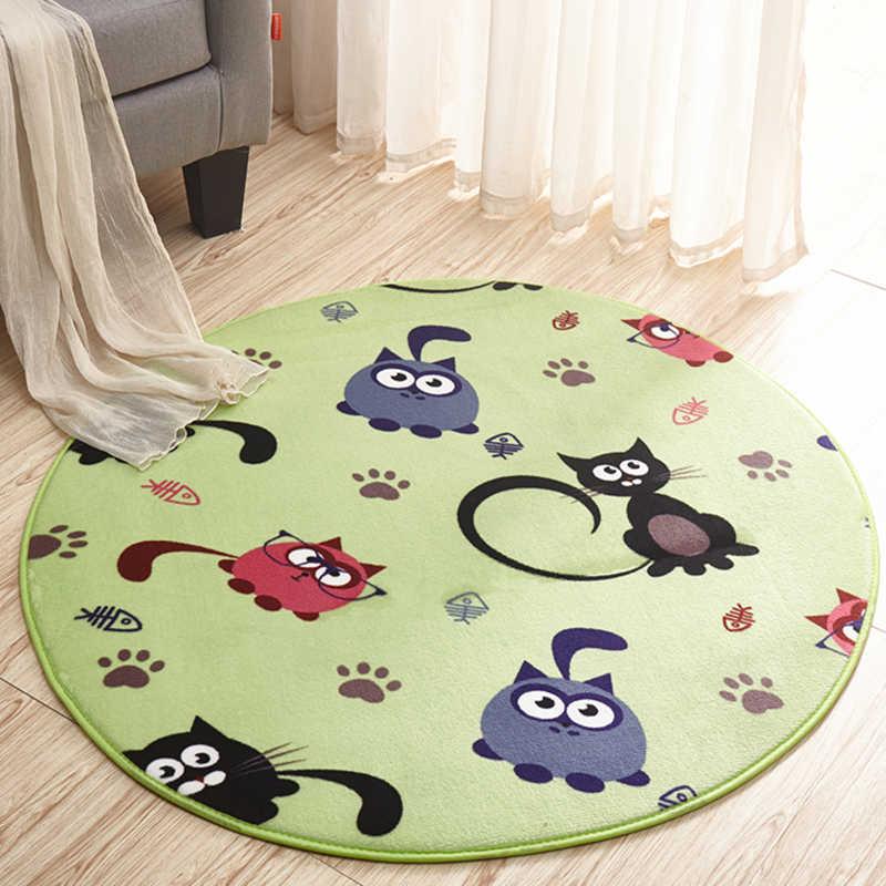 Circular cartoon non slip shower mat,super soft mat,bath room ...